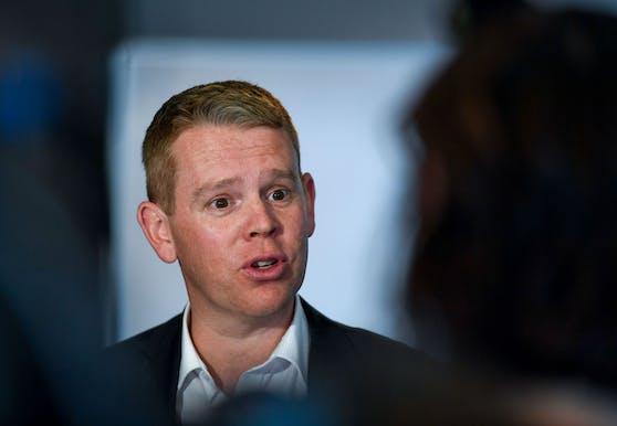 Der Minister für die Bekämpfung des Coronavirus, Chris Hipkins, sorgte am Sonntag bei einer Pressekonferenz für Lacher.