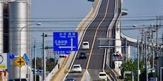 Diese Brücke in Japan birgt Nervenkitzel für Autofahrer