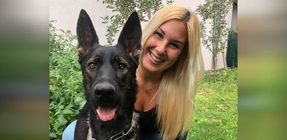 Stefanie T. und ihre Schäferhündin Ylvie wurden von einem Fremden gerettet.