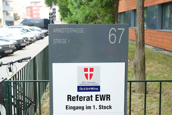 Amt für Einwanderung, Staatsbürgerschaft und Standesamt in Wien.