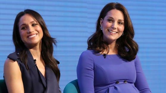Die beiden Herzoginnen Meghan und Kate haben sich an eine ganze Reihe von Etikette-Regeln zu halten.