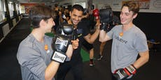 Capitals schlagen beim Boxtraining mit Marcos Nader zu