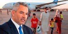 Nehammer bekräftigt Aufnahme-Stopp von Afghanen