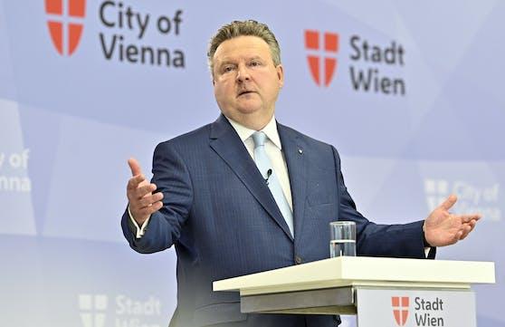 Wiens Bürgermeister Ludwig bei der Pressekonferenz am Dienstag, 24. August 2021.