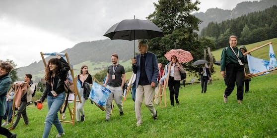 Bundespräsident Alexander Van der Bellen in der ersten Woche des Europäischen Forums Alpbach