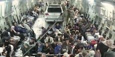 Kabul: Auto bei Evakuierung im Flugzeug
