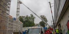 Dramatische Rettungsaktion in Salzburg mit Drehleiter