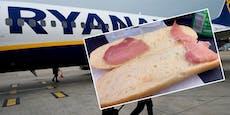 """Irin bekommt """"traurigstes Sandwich"""" auf Ryanair-Flug"""