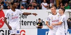 2:0, zweimal Rot: LASK knackt Schotten-Klub