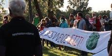 Klimaschützer errichteten Protestcamp in der Donaustadt