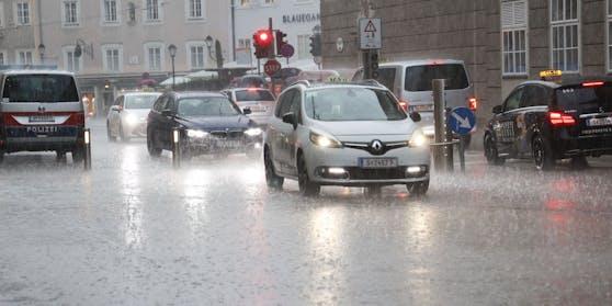 Es regnet in weiten Teilen Österreichs die kommenden Tage fast ununterbrochen.