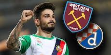 Europa League: Rapid gegen Dinamo Zagreb und West Ham