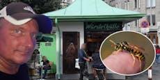 Wespenschwarm attackiert Wiener Briefloskönig