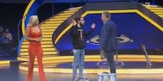 Elton und Evelyn geschockt: Flitzer stürmt TV-Show