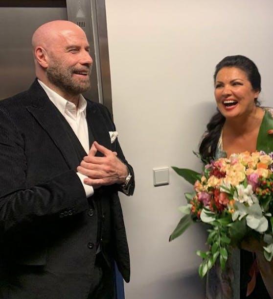 John Travolta besuchte Anna Netrebko
