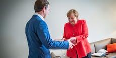 Das schenkt Kanzler Kurz Angela Merkel zum Abschied