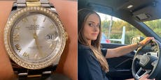 Protz-Davina zeigt Luxus-SUV, Rolex und Vuitton-Tasche