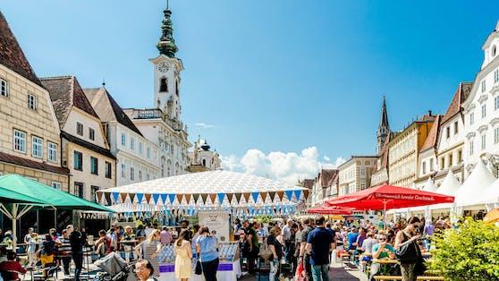 """Das Genussfest in Steyr """"Wild auf Most"""" lädt zum Gustieren ein."""