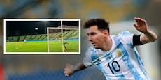 Messi zimmert im Training Freistöße in den Winkel