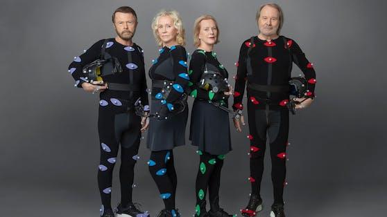 ABBA 2021:Björn Ulvaeus, Agnetha Fältskog, Anni-Frid Lyngstad undBenny Andersson (v.l.n.r.)