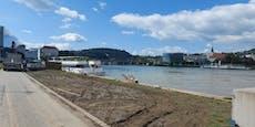 Vor Klangwolke: Linzer Donaulände völlig zerstört