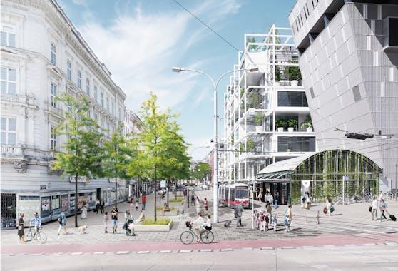 So sieht die Vision der Wiener Grünen für das Gebiet um den neuen City-Ikea am Westbahnhof aus.