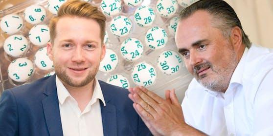 Handelsverband Vorstand Rainer Will (l.) und Burgenlands Landeshauptmann Hans Peter Doskozil.