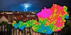 Hier gab es heuer den stärksten Blitz in Österreich