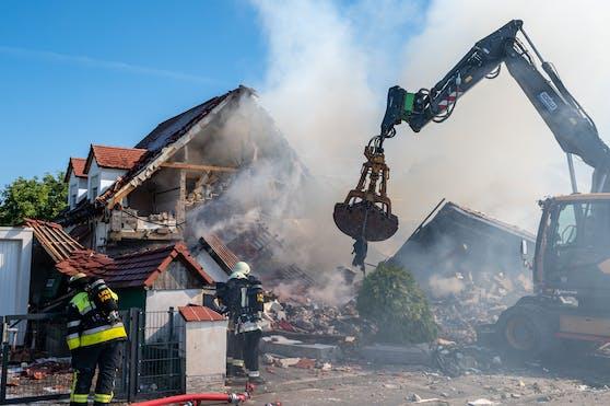 Am Donnerstag kam es in Oberbayern zu einer Explosion in einem Haus. Eine Person starb.