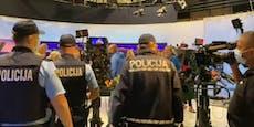 Corona-Leugner stürmen TV-Studio in Slowenien