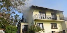 Wohnhaus in Reisenberg stand in Flammen