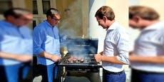 Kanzler Kurz grillt mit serbischen Präsidenten Steaks
