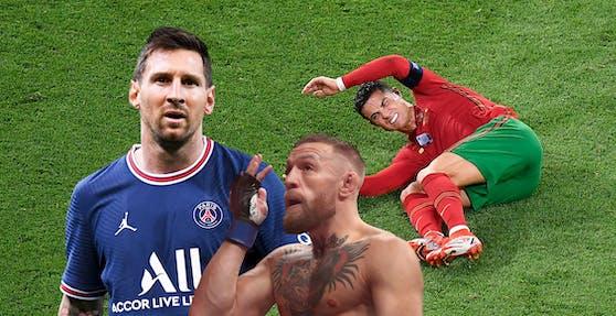 Messi, McGregor und Ronaldo nagen nicht am Hungertuch.