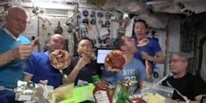 ISS-Astronauten schmissen Pizza-Party im Weltraum