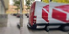 Ärger um Gehsteig-Blockade durch Wiener Lieferwagen