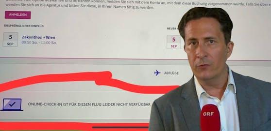 ZiB-Journalist Robert Zikmund ärgert sich über Zusatzkosten beim Fliegen.