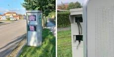 """Nach Farb-Anschlag sind Linzer Radarboxen """"blind"""""""