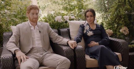 """TV-Film """"Harry & Meghan: Escaping The Palace"""": Das royale Paar ist nicht wiederzuerkennen."""