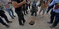 Häftlinge flüchten durch winzigen Tunnel aus Israel