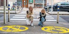Warnhinweis soll Schüler vor Handy-Unfällen schützen