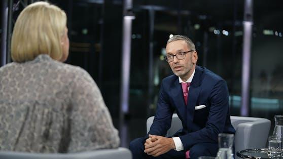 FPÖ-Chef Herbert Kickl im ORF-Sommergespräch am 23. August.