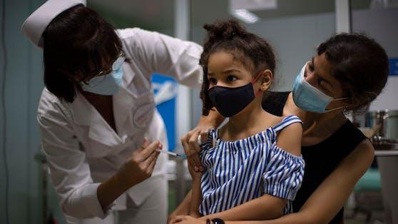 In Kuba werden Kinder schon gegen Covid geimpft.