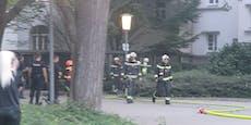 Flammen in Wiener Gemeindebau – Feuerwehr im Einsatz