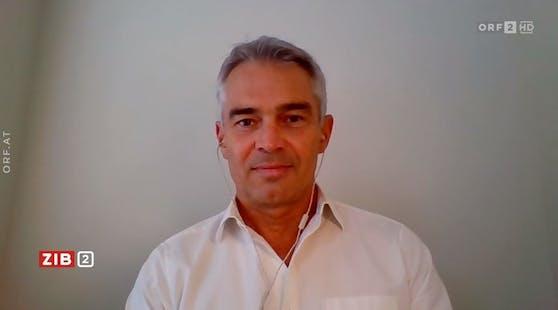 Epidemiologe Gerald Gartlehner war am Mittwoch in der ZIB2 zugeschaltet.