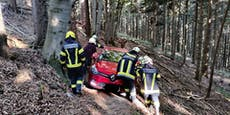 Lenker folgte Navi auf Radweg, stürzte im Wald fast ab