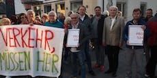St. Pöltner S34-Befürworter sperrten aus Protest Straße