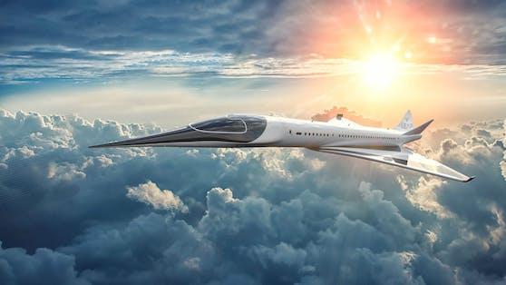 Diese Flugzeug soll Passagiere bald innerhalb von drei Stunden von London nach New York bringen.