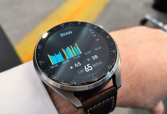 Stressmessung: Auf Wunsch erfasst die Watch den Stresslevel auch kontinuierlich.