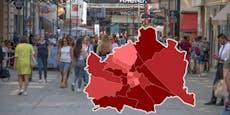 Corona-Anstieg – 9 Wiener Bezirke jetzt dunkelrot