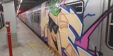 Vandalen besprayen mehrere U-Bahn-Waggons der U1